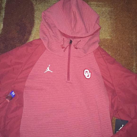 Jordan Other - NWT Jordan Oklahoma U Pullover Hoodie Jacket